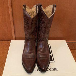 Frye Bruce Cowboy Boots Dark Brown Mens 12M